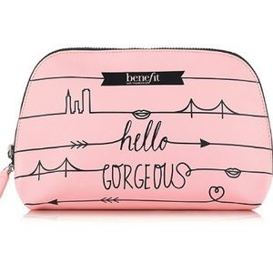 ✨BENEFIT COSMETICS Pink Dome Cosmetic Bag